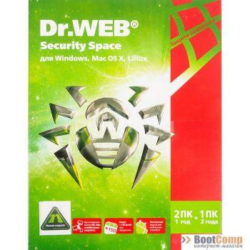ПО Dr.Web для Windows картонная упаковка, на 12 месяцев, на 2 ПК