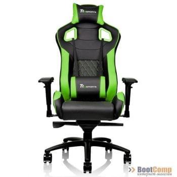 Игровое кресло Thermaltake GTF100 чёрно-зеленое