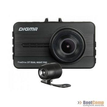 Видеорегистратор Digma FreeDrive 207  Dual Night FHD черный