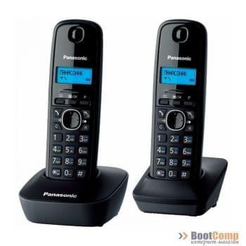 Радиотелефон Panasonic KX-TG1612RUH серый (2 трубки)