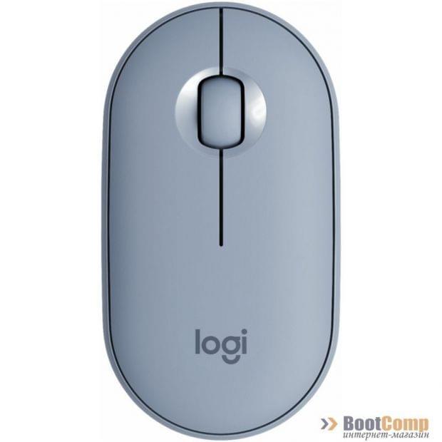 Беспроводная мышь Logitech Pebble M350 Blue Grey (910-005719)