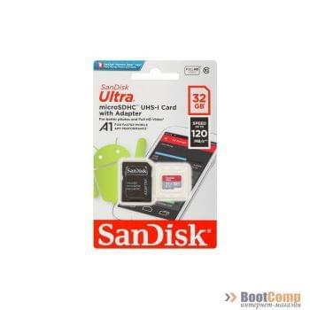 Память micro Secure Digital Card 32Gb SanDisk [SDSQUA4-032G-GN6MA]