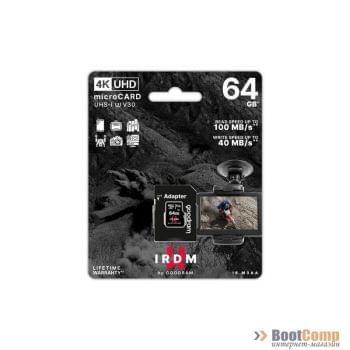 Память micro Secure Digital Card 64Gb V30 (UHS-I U3) GOODRAM IRIDIUM [IR-M3AA-0640R12]